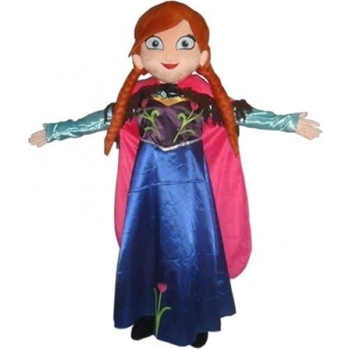 Amusements PopUp - Location Anna reine des neiges mascotte